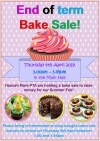 End of Term Bake Sale!!