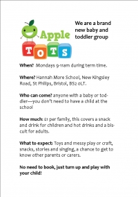 New Baby & Toddler Group at Hannah More!